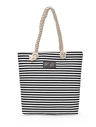 cheap -Women's Bags Canvas Tote Zipper for Outdoor All Seasons Blue Black Red Brown