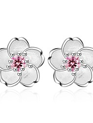 cheap -Women's Stud Earrings Fashion Sweet Zircon Alloy Flower Jewelry Pink Daily Date Costume Jewelry