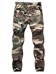 abordables -Homme Coton Skinny Pantalon camouflage