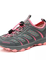 abordables -Femme Chaussures Polyuréthane Printemps / Automne Confort Chaussures d'Athlétisme Randonnée Talon Plat Bout rond Gris / Gris foncé / Vert