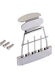 baratos -Profissional Acessório de guitarra Ponte Baixo Electrico Liga de Zinco Aço Acessórios para Instrumentos Musicais 11*8.2*1.1cm