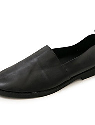 Homens sapatos Pele Pele Napa Primavera Outono Conforto Mocassins e Slip-Ons para Casual Preto