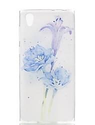 abordables -Funda Para Sony Xperia XA / Xperia L1 Diseños Funda Trasera Flor Suave TPU para Xperia XZ1 Compact / Sony Xperia XZ1 / Sony Xperia XA1