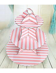 Недорогие -День рождения Партия Посуда - Стенд для торта Полоски В горошек Бумага День рождения