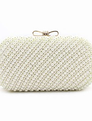 cheap -Women's Bags ABS+PC Evening Bag Beading / Bow(s) / Pearls Beige
