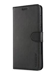 Недорогие -Кейс для Назначение Huawei P9 Lite P10 Plus Бумажник для карт Кошелек Защита от удара со стендом Чехол Сплошной цвет Твердый Кожа PU для