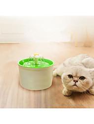 Недорогие -Кошка Собака Миски и бутылки с водой Животные Чаши и откорма Прочный Оранжевый Зеленый Синий