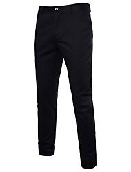 abordables -Hombre Básico Algodón Chinos Pantalones - Un Color