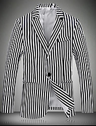 cheap -Men's Slim Blazer - Striped, Print
