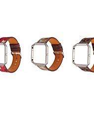 baratos -Pulseiras de Relógio para Fitbit Blaze Fitbit Pulseira de Couro Couro Legitimo Tira de Pulso