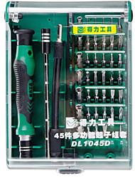 abordables -Téléphone Portable Kit d'outils de réparation 45 in 1 Extension de Tournevis Tournevis Pointe pour Ejecter Carte Sim Outils de