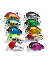 cheap -10 pcs Fishing Lures Crank Sea Fishing Fly Fishing Bait Casting Ice Fishing Spinning Jigging Fishing Freshwater Fishing Other Trolling &