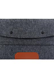 Feltro de lã Sólido Mangas Laptop de 17 polegadas