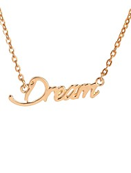 cheap -Women's Monograms Pendant Necklace - Dream Fashion, Inspirational Gold, Silver Necklace For Daily, Date