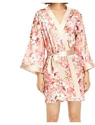 baratos -Mulheres Cetim & Renda Pijamas - Renda, Floral
