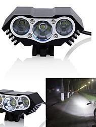 cheap -Bike Lights LED LED Cycling Waterproof 18650 3000 Lumens DC Powered Cycling/Bike