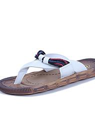 Недорогие -Муж. обувь Искусственное волокно Весна / Осень Мокасины Тапочки и Шлепанцы Белый / Черный / Оранжевый