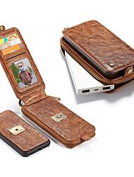 Недорогие -Кейс для Назначение Apple iPhone X Кошелек / Бумажник для карт / Защита от удара Чехол Сплошной цвет Твердый Настоящая кожа для iPhone X