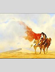 Недорогие -Ручная роспись Пейзаж Горизонтальная панорама, Modern Hang-роспись маслом Украшение дома 1 панель