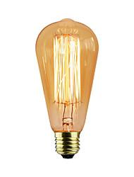 Недорогие -e27 60w st58 прямой провод эдисон ниппель вольфрам искусство освещение украшение источник света