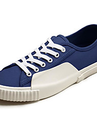 cheap -Men's Canvas Spring / Fall Comfort Sneakers White / Dark Blue / Light Yellow