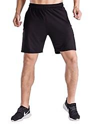 baratos -Homens Shorts de Corrida - Preto Esportes Sólido Shorts Exercício e Atividade Física Roupas Esportivas Secagem Rápida, Respirabilidade