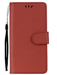 abordables -Funda Para Huawei P8 Lite (2017) Soporte de Coche / con Soporte / Flip Funda de Cuerpo Entero Un Color Dura Cuero de PU para P8 Lite (2017)