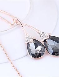 cheap -Women's Long Pendant Necklace - Drop European, Fashion Gray Necklace For Causal
