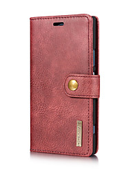 cheap -Case For Sony Xperia XZ Xperia XZ1 Card Holder with Stand Flip Full Body Cases Solid Color Hard Genuine Leather for Sony Xperia XZ1 Sony