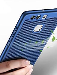 Недорогие -Кейс для Назначение Huawei P10 Lite P10 Ультратонкий Кейс на заднюю панель Сплошной цвет Твердый пластик для P10 Plus P10 Lite P10 Huawei