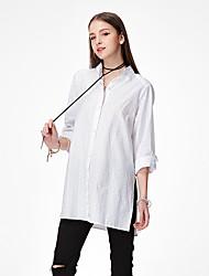 economico -Camicia Per donna Sensuale Boho Tinta unita