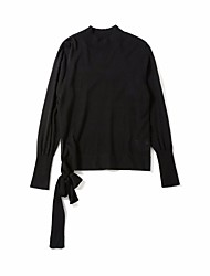 cheap -Women's Long Sleeves Long Cashmere - Solid