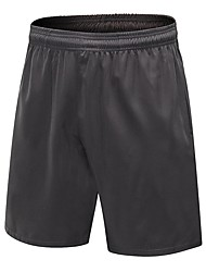 baratos -Homens Shorts de Corrida - Vermelho / Branco, Cinzento, Azul Marinho Escuro Esportes Sólido Shorts Exercício e Atividade Física Roupas Esportivas Respirabilidade Com Stretch