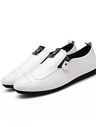 Недорогие -Муж. обувь спандекс Ткань Ткань Весна Осень Удобная обувь Кеды Для прогулок Шнуровка для Атлетический Повседневные Белый Черный Оранжевый