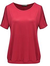 preiswerte -Damen Solide-Einfach T-shirt