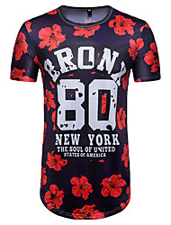 cheap -Men's T-shirt - Letter, Print