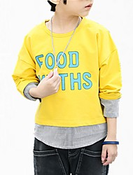 cheap -Boys' Floral Hoodie & Sweatshirt, Cotton Spring Simple Blue Yellow