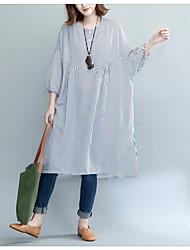 baratos -Mulheres Solto Vestido - Básico, Quadriculada
