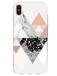 economico -Custodia Per Apple iPhone X iPhone 8 Ultra sottile Fantasia/disegno Per retro Geometrica Effetto marmo Morbido TPU per iPhone X iPhone 8