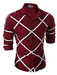 Herre - Stribet Skjorte