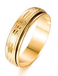 Недорогие -Муж. Жен. Кольцо Золотой Позолота Круглый Мода Подарок Подарок Валентин Бижутерия