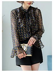 Недорогие -Жен. Кружева Блуза Однотонный Горошек Вспышка рукава