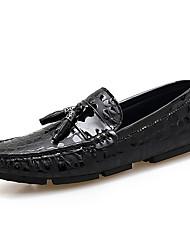 abordables -Homme Chaussures Tulle Automne / Hiver Chaussures de plongée Mocassins et Chaussons+D6148 Noir / Rouge / Bleu