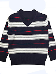 cheap -Boys' Daily Holiday Striped Sweater & Cardigan, Cotton Spring Long Sleeves Simple Black