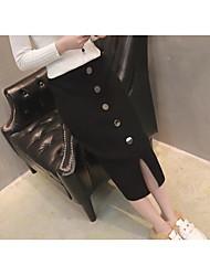 preiswerte -Damen Bodycon Röcke - Solide, Gestrickt