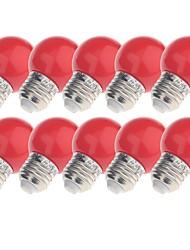 cheap -YouOKLight 10pcs 3W 200 lm E26/E27 LED Globe Bulbs 8 leds Dip LED Decorative Yellow Blue Red 220-240V