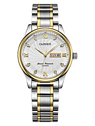 cheap -CADISEN Women's Fashion Watch / Dress Watch Japanese Calendar / date / day / Water Resistant / Water Proof / Casual Watch Stainless Steel Band Fashion / Elegant White / Two Years