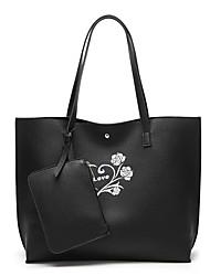 preiswerte -Damen Taschen PU Tragetasche Knöpfe für Einkauf Normal Ganzjährig Schwarz Dunkelrot Braun