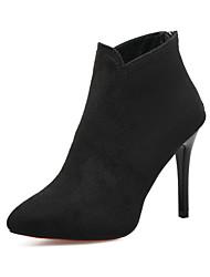 abordables -Femme Chaussures Gomme Hiver Confort Mocassins et Chaussons+D6148 Talon Bas Bout rond pour De plein air Noir Bourgogne