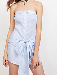cheap -Women's Going out Cotton Set - Solid Colored Strapless